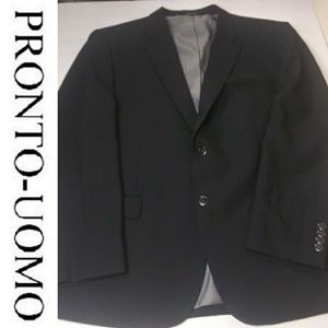 Pronto Uomo 48R Black 2 Button Blazer